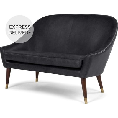 Seattle 2 Seater Sofa, Black Premium Leather