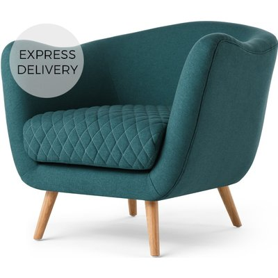 Flick Accent Chair, Mineral Blue