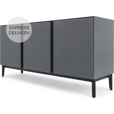 Silas Sideboard, Smoked Grey Glass