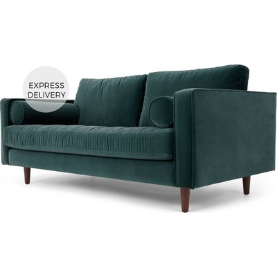 Scott Large 2 Seater Sofa, Petrol Cotton Velvet