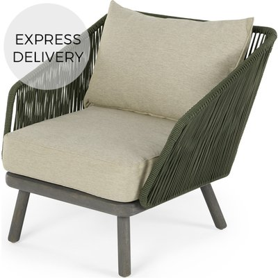 Alif Garden Armchair, Green and Grey Eucalyptus