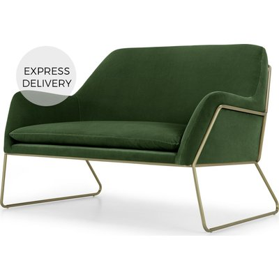 Frame Loveseat, Grass Cotton Velvet & Brass