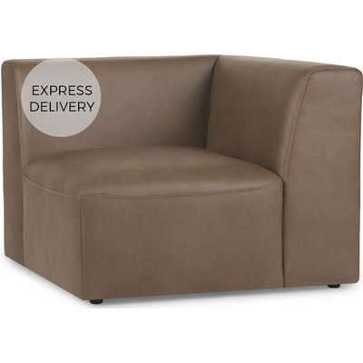 Juno Modular Corner End Seat, Columbus Brown Leather