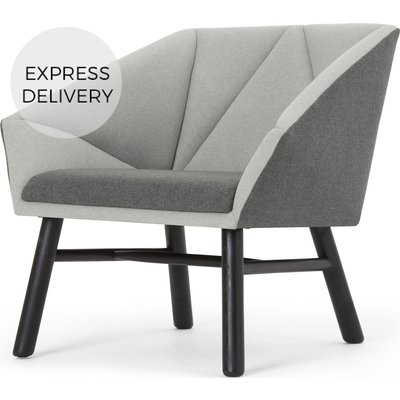 Facet Accent Chair, Marl Grey and Light Grey