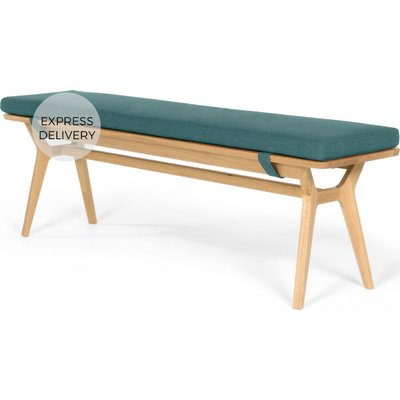 Jenson Bench, Oak and Mineral Blue