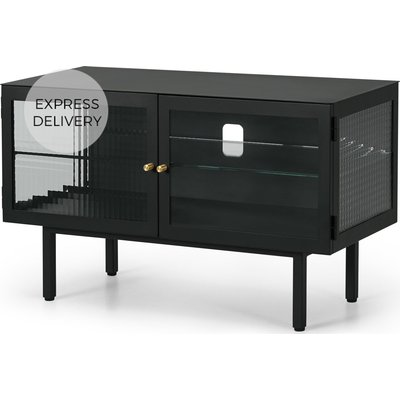 Marden Media Unit, Charcoal Grey and Glass