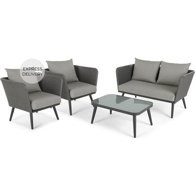 Sonora Garden Lounge Set, Tonal Grey