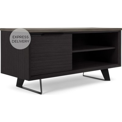 Boone Compact TV Stand, Concrete resin top