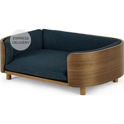 Kyali Dog Sofa, Natural Walnut and Navy, S/M