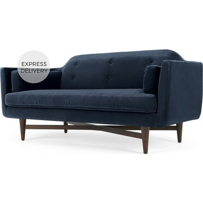 Imani Large 2 Seater Sofa, Navy Cotton Velvet