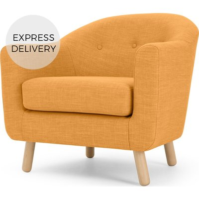 Lottie Armchair, Honey Yellow