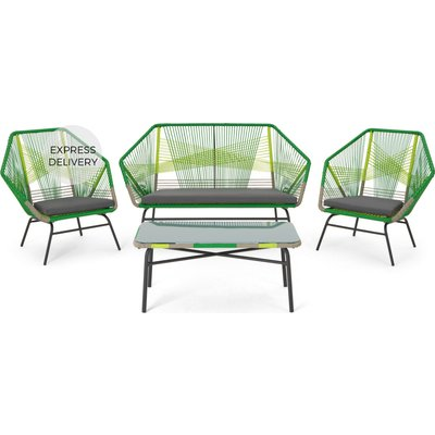 Copa Garden Lounge Set, Citrus Green