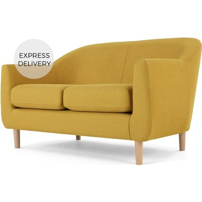 Custom MADE Tubby 2 Seater Sofa, Retro Yellow