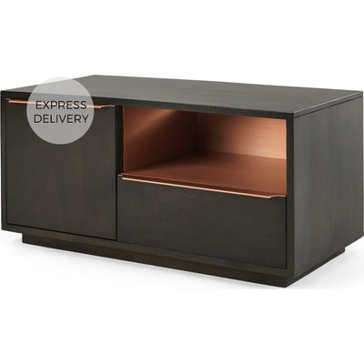 Anderson Compact TV Stand, Mango Wood and Brass
