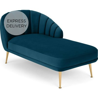 Primrose Right Hand Facing Chaise Longue, Velvet Petrol Teal