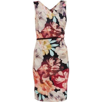 Elena Floral Scuba Jersey Dress