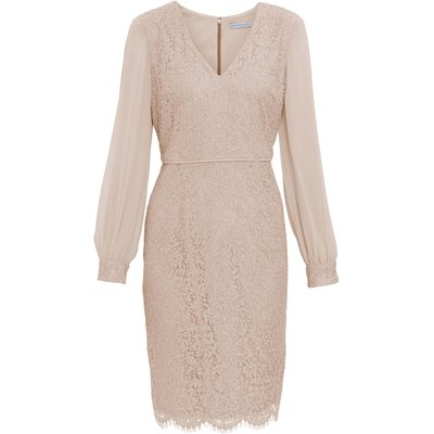 Auria Corded Lace With Chiffon Sleeve