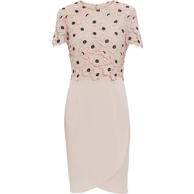 Jayna Crepe And Lace Dress