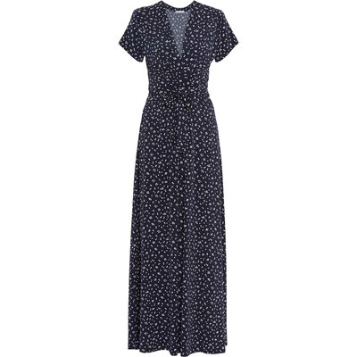 Doria Cluster Spot Jersey Maxi Dress