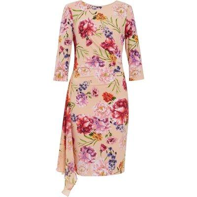 Ayna Jersey Print And Chiffon Dress