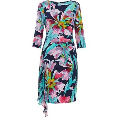 Hanne Jersey And Chiffon Dress