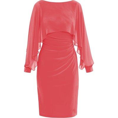 Olma Jersey And Chiffon Dress