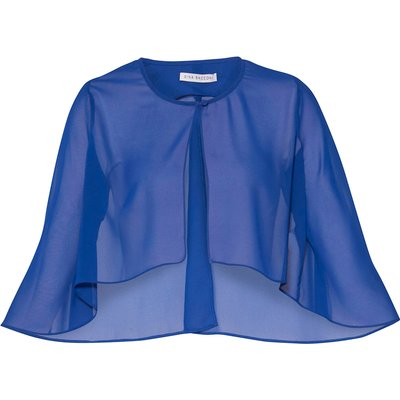 Chiffon Cape With Open Back Detail