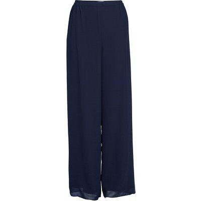 Chiffon Layered Trouser With Slits