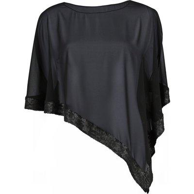 Chiffon cape with sequin edge