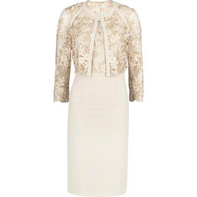 Embroidered bodice dress and jacket