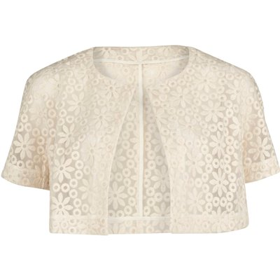 Daisy embroidered organza bolero