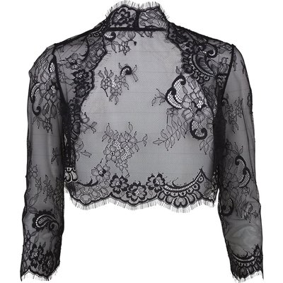 Scalloped lace bolero