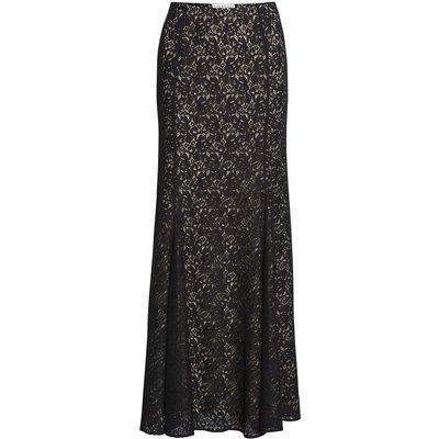 Lace fishtail maxi skirt