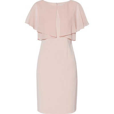 Flora Crepe And Chiffon Dress