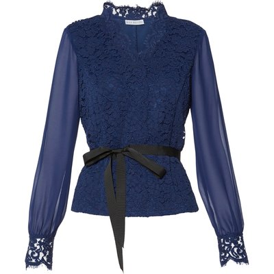 Sadie Lace And Chiffon Blouse