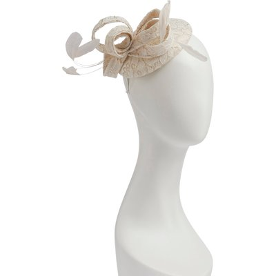 Antique Foil Corded Lace Fascinator