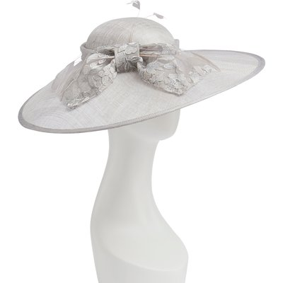 Hattinator With Metallic Embroidered Bow