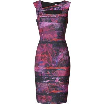 Mischa Abstract Stripe Scuba Dress