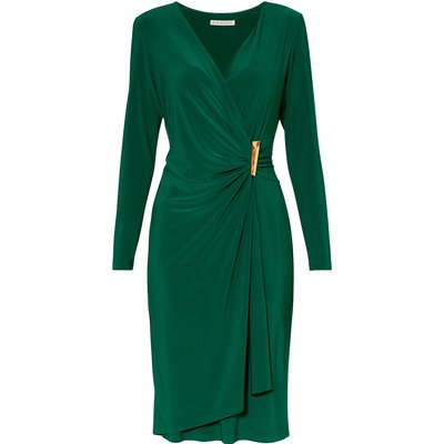 Harley Jersey Dress With Gold Detailing