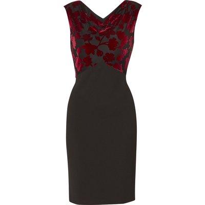 Gavriella Crepe And Velvet Dress