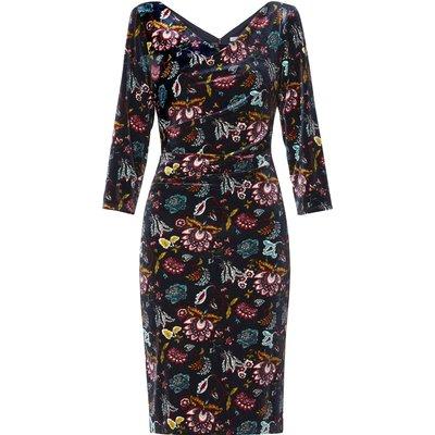 Hildie Print Velvet Dress