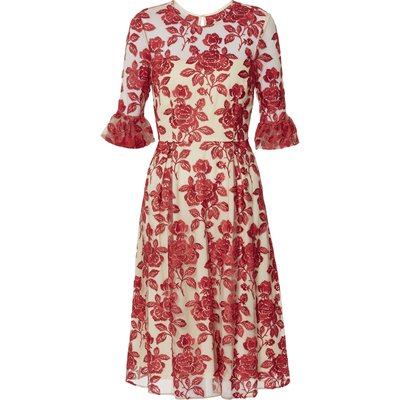 Luana Embroidered Floral Dress