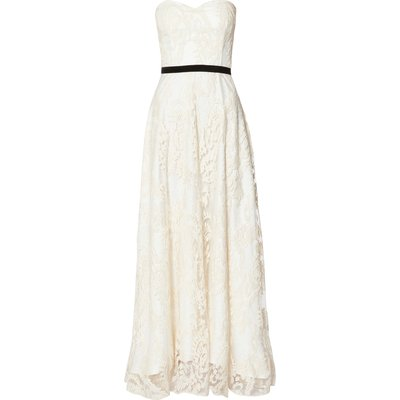 Mariah Cream Embroidered Lace Maxi Dress