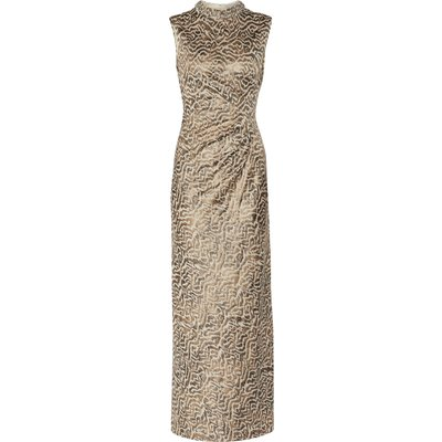 Alvira Maxi Dress With Beaded Collar