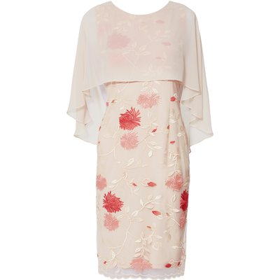 Etta Embroidered Dress With Cape