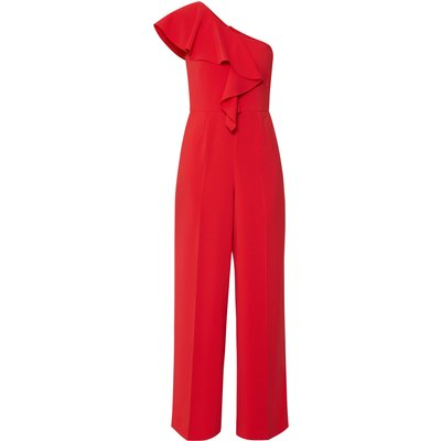 Ivana One Shoulder Crepe Jumpsuit