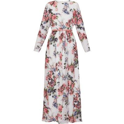 Dionne Chiffon Belted Maxi Dress
