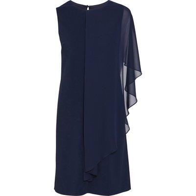Aletta Moss Crepe and Chiffon Dress
