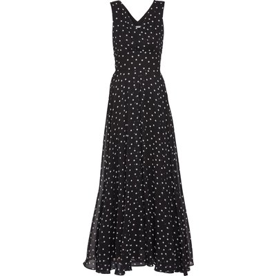 Calandra Spot Chiffon Maxi Dress