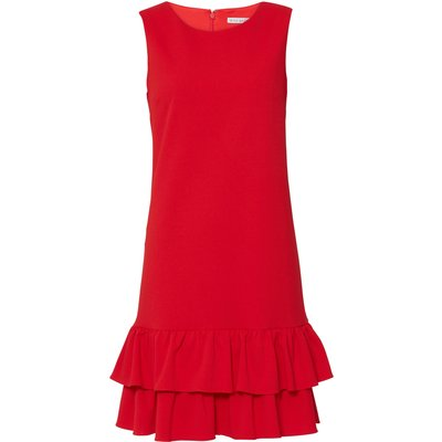 Inaya Stretch Crepe Dress With Frills